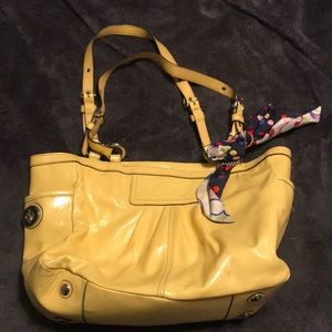 Authentic Coach Yellow Purse Bag